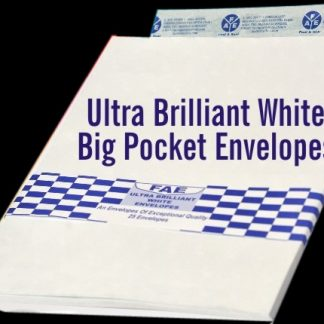 Ultra Brilliant White Big Pocket Envelopes 15X10 (FULSCAP)